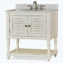 Cottage Guest Vanity w/ Sink & Marble Top - WHD
