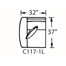 Sectional Component-One Arm Chair