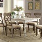 Aberdeen - Rectangular Dining Table - Weathered Worn White Finish Product Image