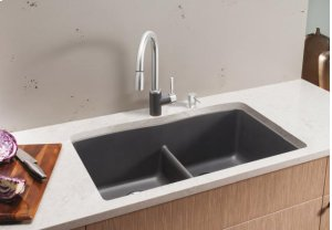 Blanco Diamond Equal Double Bowl With Low-divide - Anthracite