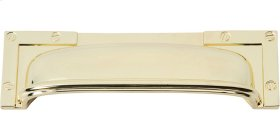 Campaign L-Bracket Cup Pull 3 3/4 Inch - Polished Brass