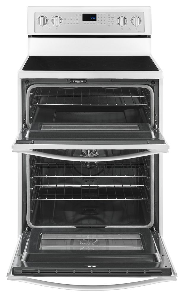Wge745c0fh Whirlpool 67 Cu Ft Electric Double Oven Range With