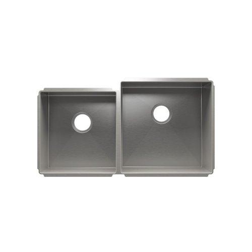"""J7® 003957 - undermount stainless steel Kitchen sink , 15"""" × 16"""" × 8""""  18"""" × 18"""" × 10"""""""