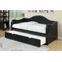 Black Twin Day Bed with Trundle