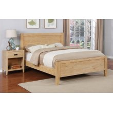 Alstad Bed - Full, Natural Finish