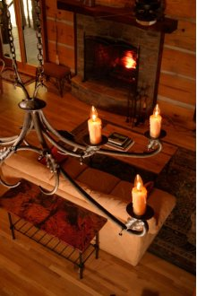 Oakdale 6 Iron Arm Chandelier