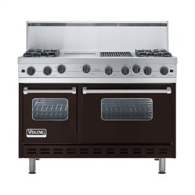 "Chocolate 48"" Open Burner Range - VGIC (48"" wide, four burners 12"" wide griddle/simmer plate 12"" wide char-grill)"