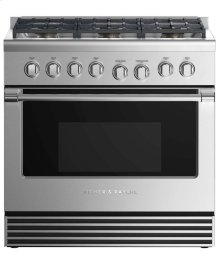 "Dual Fuel Range 36"", 6 Burners"