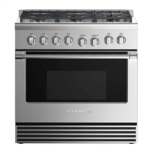 "Fisher & PaykelDual Fuel Range 36"", 6 Burners"