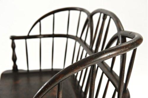 The Hoop Back Settee - Plymouth Brown