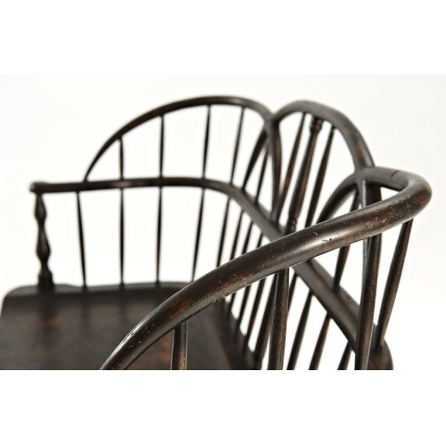 The Hoop Back Settee - Plymouth Brown