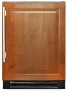 24 Inch Overlay Solid Door Dual Zone Wine Cabinet - Left Hinge Overlay Solid
