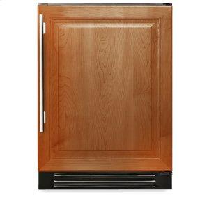 True Residential24 Inch Overlay Solid Door Dual Zone Wine Cabinet - Left Hinge Overlay Solid
