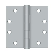 "4 1/2"" x 4 1/2"" Square Hinges, HD - Brushed Chrome"