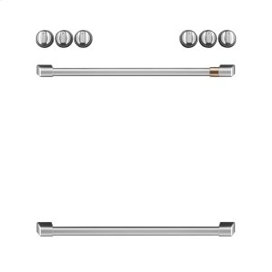 Cafe AppliancesFront Control Induction Knobs and Handles - Brushed Stainless