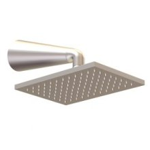 Shower Rainhead Wall Mount, Conical Arm - Brushed Nickel