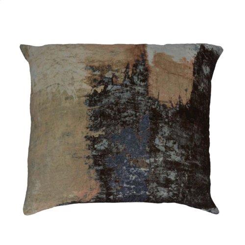 Brushstrokes Velvet Feather Cushion 25x25