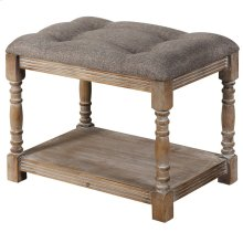 Colin Foot Stool  19in X 16in X 24in Antique Wooden Bench or Foot Stool in Antique Solid Pine Wood