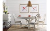 Everyday Dining by Rachael Ray Round to Oval Pedestal Table - Sea Salt
