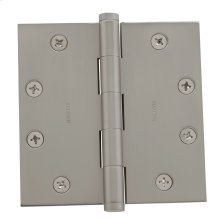 Satin Nickel Square Corner Hinge