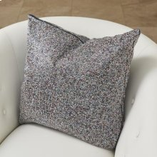 Multi Beaded Pillow-Blue/Silver