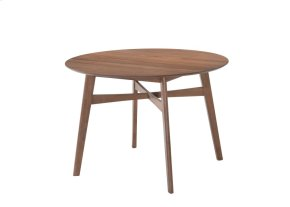 "Emerald Home Simplicity Round Dining Table 42"" Walnut D550-15"