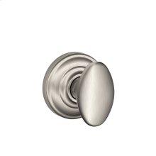 Siena Knob with Andover Trim Hall & Closet Lock - Satin Nickel