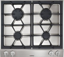 Vario gas cooktop 200 series VG 264 214 CA Stainless steel control panel Width 24 '' Equipped for natural gas.