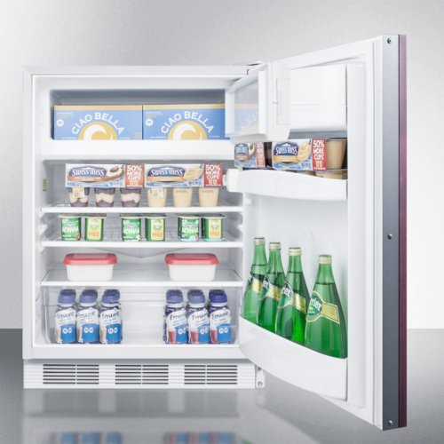 Built-in Undercounter ADA Compliant Refrigerator-freezer for General Purpose Use, Cycle Defrost W/dual Evaporators, Panel-ready Door, Lock, and White Cabinet