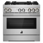 "Jenn-AirRISE 36"" Dual-Fuel Professional Range with Gas Grill"