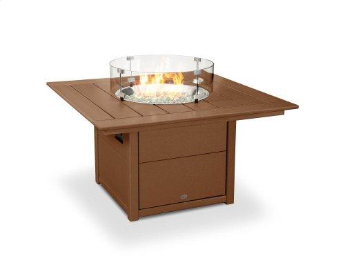 "Teak Square 42"" Fire Pit Table"