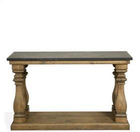 Ashton Table Base 29 lbs Reclaimed Natural Pine/Bluestone finish