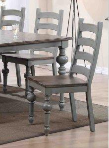 Ladder Dining Chair (2/Ctn) - Putty/Oak Finish