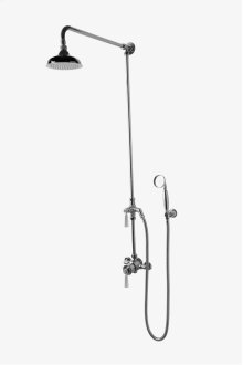 "Roadster Exposed Thermostatic System with 6"" Shower Rose and Metal Lever Handle STYLE: RDXS70"