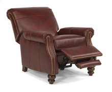 Bay Bridge Leather High-leg Recliner with Nailhead Trim