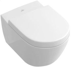 Wall-mounted toilet with rimless flushing (Directflush) - White Alpin