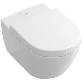 Wall-mounted toilet - sleek - White Alpin CeramicPlus