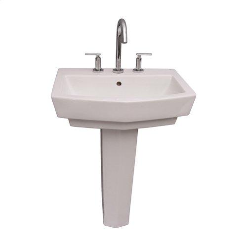 Credenza 600 Pedestal Lavatory - White