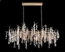 Shiro-Noda Fifteen-Light Glass Cluster Horizontal Chandelier