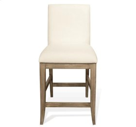 Sophie Upholstered Counter Stool Natural finish