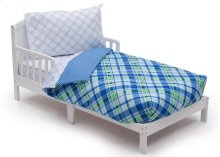 Plaid and Gingham 4-Piece Toddler Bedding Set - Kid bundle - Plaid and Gingham (2204)