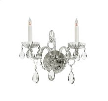 Traditional Crystal 2 Light Spectra Crystal Chrome Sconce