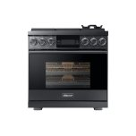 "Dacor36"" Pro Gas Range, Silver Stainless Steel, Liquid Propane"