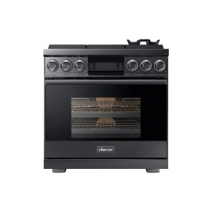 "Dacor36"" Pro Gas Range, Graphite Stainless Steel, Liquid Propane"