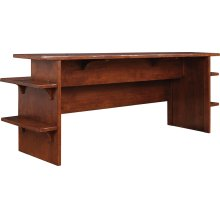 90 Wide Wood Top, Oak Gathering Island