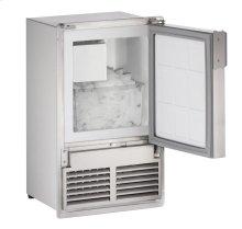 "14"" Marine Crescent Ice Maker Stainless Solid Field Reversible (Flush to Cabinet - 220v-240v)"
