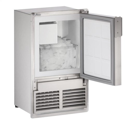 "14"" Marine Crescent Ice Maker Stainless Solid Field Reversible (Flush to Door - 220v-240v)"