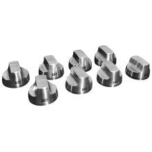 Cooktop Burner Control Knob Kit, Stainless Steel