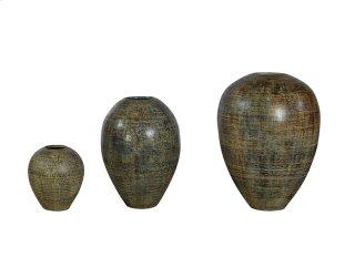 Large Blue-Black Cream Urn