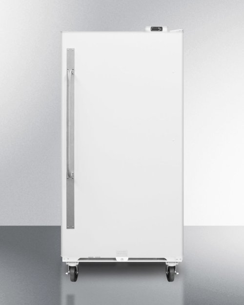 Commercially Approved Large Capacity Upright All-freezer With Frost-free Operation, Digital Thermostat, Casters, and Lock\n